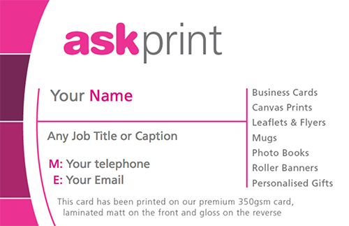 Ask print franchisee agent area picture of ask branded business card colourmoves